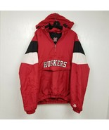 Nebraska Cornhuskers Mens 1/2 Zip Puffer Jacket Coat Size XL Extra Large... - $46.71