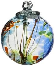 Kitras Art Glass Decorative Spirit Ball, 6-Inch, Light Blue - $44.38