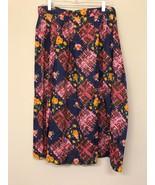 Allison Tracy Women's 8 (EU 38) Skirt Floral Pleated Pockets Mid Calf - $17.33