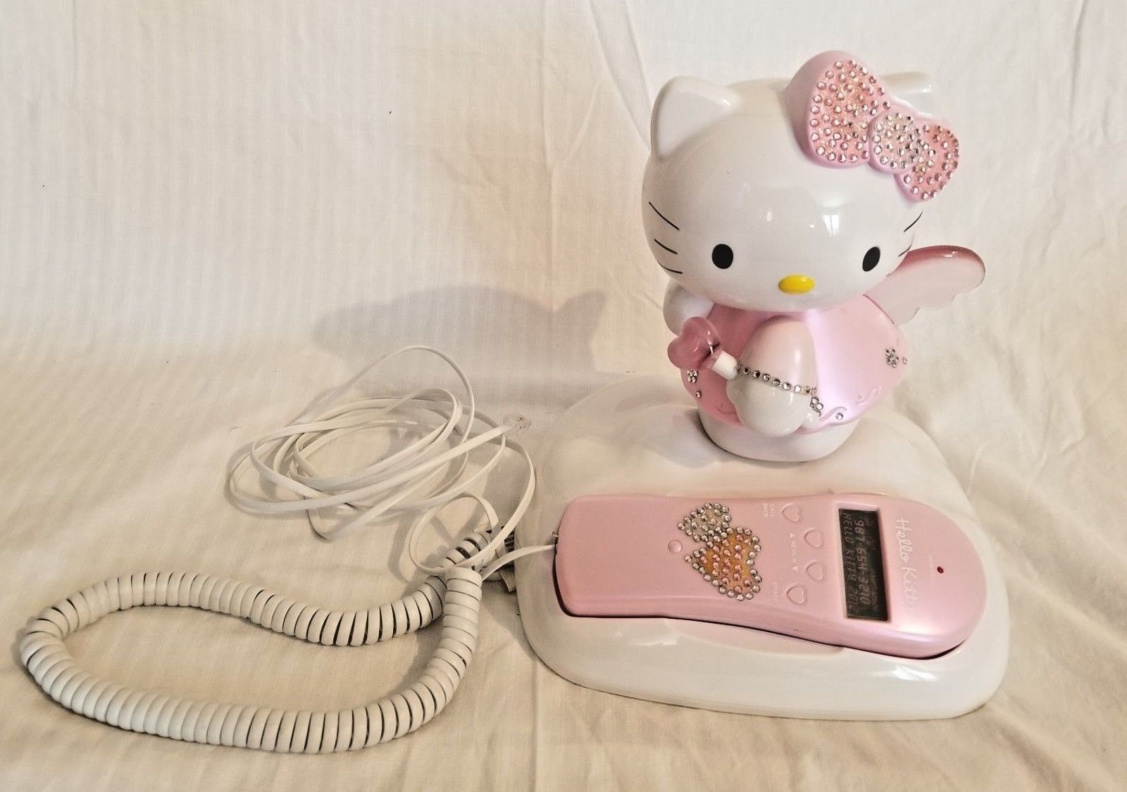 Hello Kitty Home Telephone With Caller ID,Lights up..