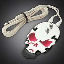 Red Skull Tattoo Power Supply Foot Switch Pedal Flat Stainless Steel 5.5'ft - $7.55