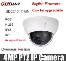 Dahua SD22404T-GN 4MP IVS PoE 4x PTZ Face Detection Network Dome IP came... - $165.00
