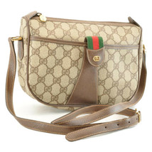GUCCI Sherry Line GG Canvas Shoulder Bag Brown Auth sa1942 - $350.00