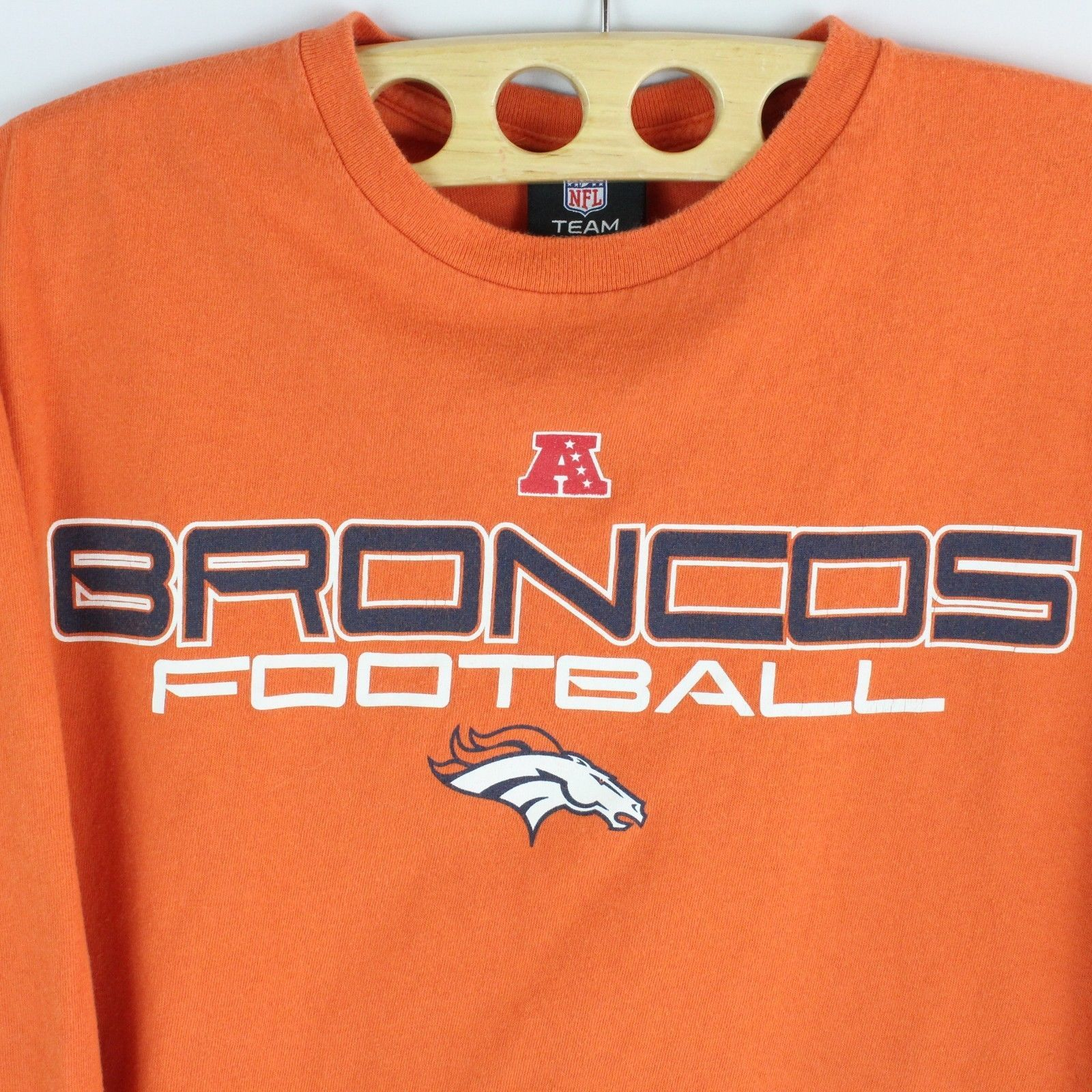 NFL Broncos De Denver Vintage T-Shirt a Manica Lunga Braccio Spellout  TAGLIA L 080786ea9