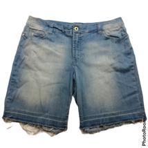 Jeanstar Bermuda Cutoff Jean Shorts Size 14 Light Blue Pockets Stonewashed - $23.76