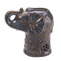Oil Wax Warmer Asian Style Aromatherapy Lucky Elephant Ceramic Oil Warme... - $13.99