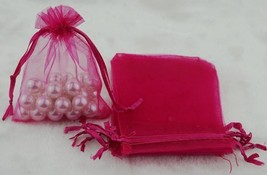 AB9: 12.5cm x 18cm Organza Bags Wedding Favor Gift Candy Drawstring Bag1... - $7.98