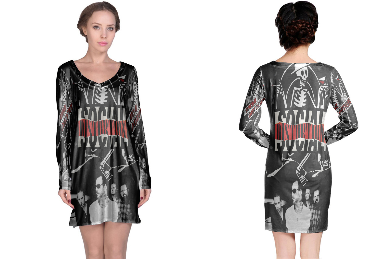 Long sleeve nightdress  social distortion