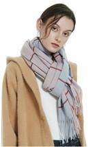 Luxury Winter Cashmere Feel Scarf for Women Men Plaid Design Exotic Fashion - $12.18
