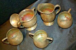 Quadruple Plated Silver Creamers & Sugar Bowls Vintage Empire Crafts AB 341 image 6