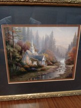 Thomas Kinkade Lithogragh  The Forest Chapel  (Chapel of Nature 11) Art Work image 1