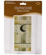 Outhouse Door Cover Party Accessory 1 count 1/Pkg - $5.34