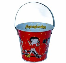 Betty Boop vtg collectible Doop figurine Tin Bucket Felix cat Pudgy dog ... - $24.14
