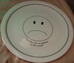 Corning Pyroceram Sad Face 12 Inch Chop Plate Very Rare Free Usa Shipping - $37.39