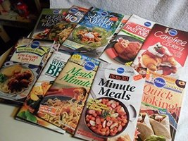 Lot of (13) PILLSBURY Cooking Magazines Cookbooks Quick Meals Low Fat Cooking [P - $42.01