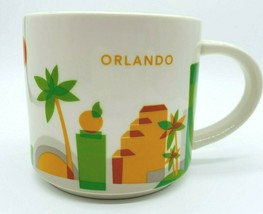 """Starbucks """"You Are Here"""" Collection Coffee Cup Orlando Florida Peaches Dolphins - $12.87"""