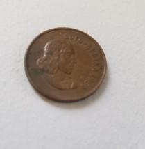 1969 Afrikaans Legend Suid Afrika 1 Cent Bronze Coin - $1.95