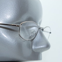 Reading Glasses Shiny Gray Wire Narrow Oval Metal Frame Lightweight +1.2... - $14.97