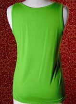ETOILE green 2 piece stretch rayon tank blouse & sweater jacket M (T47-02I8G) image 8