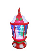 6 Foot Tall Lighted Christmas Inflatable Lantern with Snowman W/ Tree Le... - $120.28
