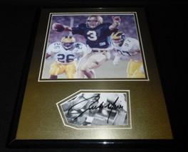 Rick Mirer Signed Framed 11x14 Photo Display Notre Dame  - $42.18