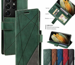 For Samsung A12 S21 S20 FE Ultra Plus A71 5G Leather Wallet Magnetic Flip cover - $55.11