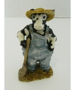 Cowtown Old MooDonald Cow Figurine Farm Ranch Hand Country Vintage 1992 ... - $16.82
