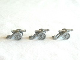 3x Risk 40th Anniversary Edition Board Game Metal Cannon Piece Silver Army Lot - $9.99
