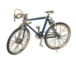 DOLLHOUSE MINIATURES BLUE RACING BIKE #G7553 - $32.99