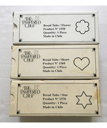 Lot of 3 Pampered Chef Bread Tubes • Flower Heart Star • 1550 1560 1570 ... - $24.70