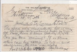 The Railway Executive British Railways 1948 Goods Dept to Aberdeen Note ... - $7.59