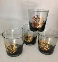 Vintage 70s lowball cocktail glasses set of 4 image 1
