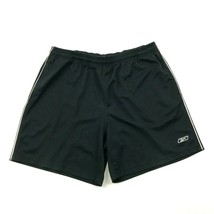 Reebok Gym Shorts Men's Size Large L Loose Fit Black Embroidered Vector ... - $17.83
