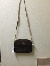 Michael Kors Sign Fulton large EW crossbody Women bag Brown NWT Reg 158.00 - $101.92