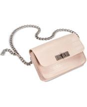 Steve Madden Women's Croc-Embossed Chain Belt Bag (Pink) - $35.64