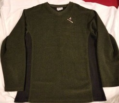 Vintage Green Brand Recycled Park City Utah Made In USA Sweater Skiing S... - $19.72