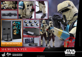 Hot Toys Star Wars Shoretrooper 1/6 Scale Figure Rogue One A Star Wars S... - $603.84