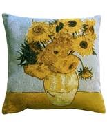 Pillow Decor - Van Gogh Sunflowers 19x19 Throw Pillow - $79.95