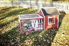 Outdoor Pet Cage Picket Fence House Poultry Hutch Small Rabbit Comfort S... - $195.29