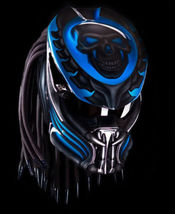 Predator Motorcycle Helmet Blue Skull (Dot / Ece Certified) - $355.00