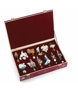 Reed & Barton Twelve Days Of Christmas Glass Ornament Set 12 Wooden Ches... - $5,800.00