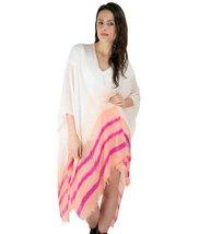Le Nom Point Color Stripe Scarf Ruana (APRICOT) - $12.86