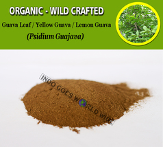 POWDER Guava Leaf Yellow Guava Lemon Guava Psidium Guajava Organic Wild ... - $7.85+