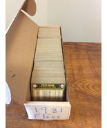 "1981 Fleer MLB BASEBALL COMPLETE 660 CARD SET W/CORRECT ""G"" Nettles PACK... - $36.95"