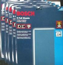 Bosch SS1B180 180 Grit 9 x 11 Sandpaper 5-5pks Italy - $9.90