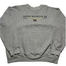 Vintage 90s Hanes Mens M Michigan Wolverines Embroidered Crewneck Sweats... - $39.53