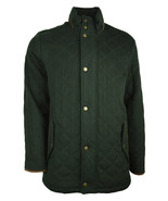 Brooks Brothers Mens Green Wool Diamond Quilted Field Jacket Sz Large L ... - $349.90