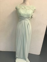 ASOS Maxi Dress with Lace Detail in Light Green Size UK 8 US 4 EUR 36 (r... - $44.16
