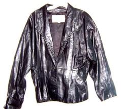 Sz L - Wilson's Black Leather Short Jacket Size Large - $63.35