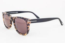 Tom Ford Leo Havana / Brown Sunglasses TF9336 55J Asian Fit - $175.42